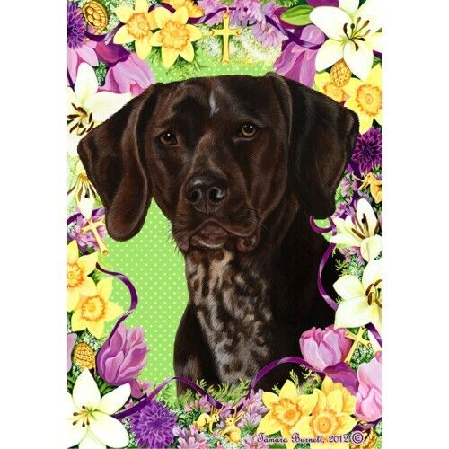 Easter House Flag - German Shorthaired Pointer 33049