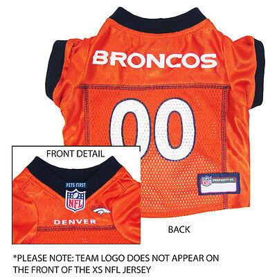 Denver Broncos NFL Dog Pet  Football Jersey (all sizes)