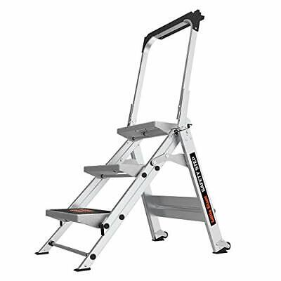 Little Giant Safety Step 3-step 3 Foot Step Stool Aluminum 3 Step Ladders