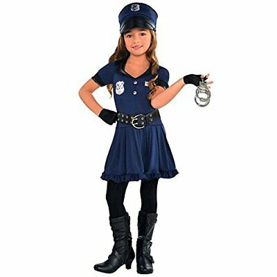 Cop Cutie Police Officer Girl Blue Cute Fancy Dress Up Halloween Child Costume - Police Girl Halloween Costume