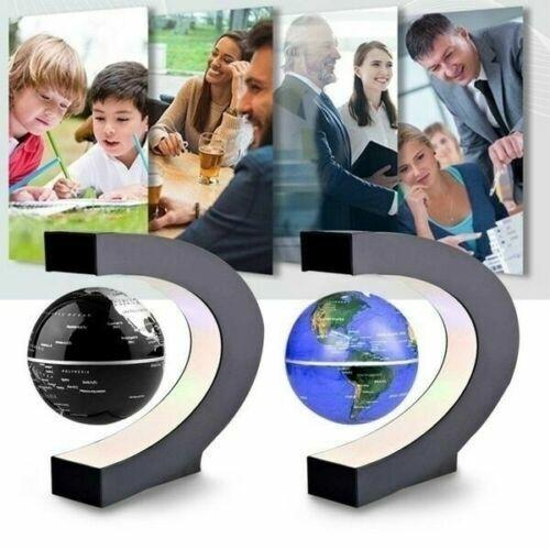 LEVITATING GLOBE MAGNETIC C SHAPE LED WORLD MAP HOME OR OFFICE DECORATION TOY