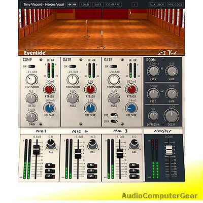 Eventide TVERB Tony Visconti Reverb Audio Effects Software T-verb Plug-in NEW