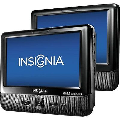 "Insignia 9"" Dual Screen Portable LCD DVD Player Car (NS-D9PDVD15) - VG - In Box"