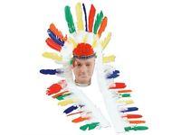Long Feather Indian Headdress Music Legs 76635
