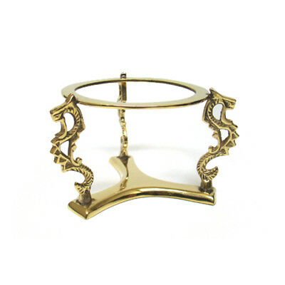 """Three Dragons Solid Brass Crystal Ball or Bowl Stand Fits 4-8"""" 100-200mm Spheres"""