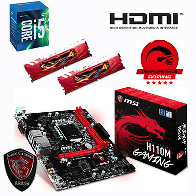 Bundle Intel Core i5 6500+16GB PC2133 G.Skill DDR4+MSI H110M Gaming