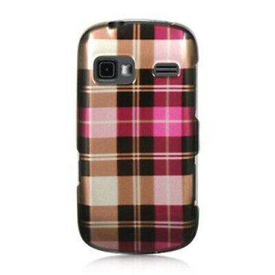 For AT&T LG Xpression HARD Case Snap On Phone Cover Hot Pink Checker
