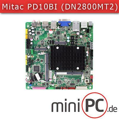 Mitac PD10BI (Intel DN2800MT2) Mini-ITX Mainboard / Motherboard [FANLESS]
