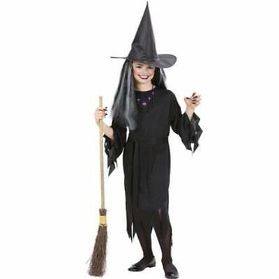 TOP Kinder Hexenkostüm 128 5-7 J. Kostüm Hexe Zauberin Magierin Halloween