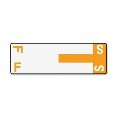 Smead 67157 Orange Alphaz Ncc Color-coded Name Label - F & S - 3.12