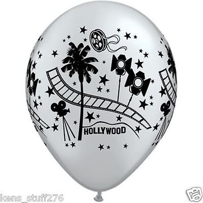 Hollywood Stars Latex Balloons, Red Carpet Birthday, Party Decor, 11