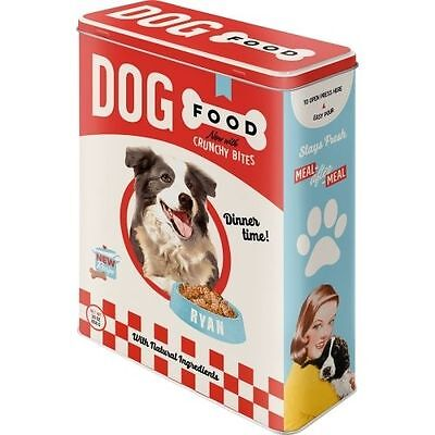Tin Box Dog FOOD - Embossed Box - Best Quality - Size XXL - Blechdose