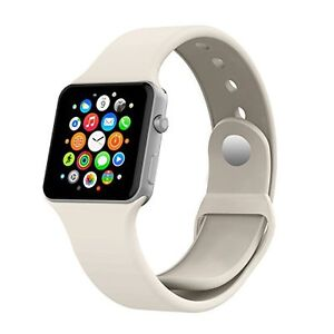 Apple Watch 42mm MoKo White Silicone Band & Orzly Black Dock