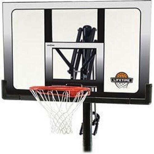 Lifetime 71281 In Ground Power Lift Basketball System, 52 Inch Shatterproof Backboard 71281