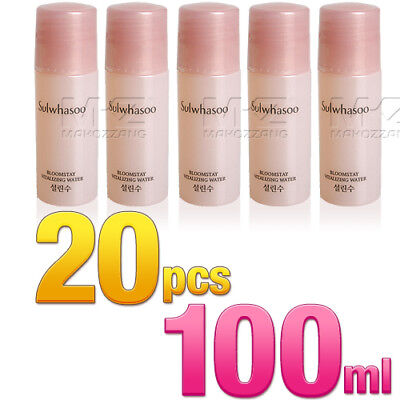 Sulwhasoo Bloomstay Vitalizing Water 20pcs 100ml Amore Pacific + Gift Samples