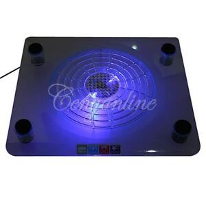 USB Big Fan Blue LED Cooling Cooler Pad For 14.1-15.4