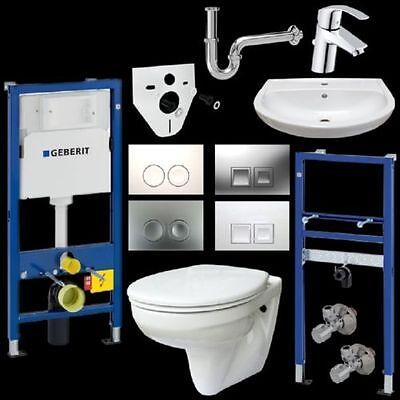 Komplettset Gustavsberg WC u. Waschtisch inkl. Vorwandelemente u. Drückersplatte online kaufen