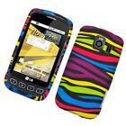 LG Optimus V Case Zebra