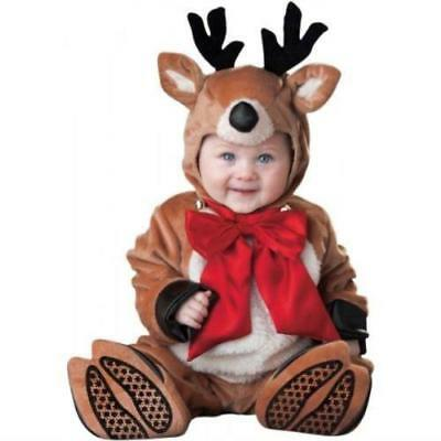 InCharacter Costumes Baby's Reindeer Rascal Costume Brown/Red/White LARGE 18-2T](Reindeer Baby Costume)
