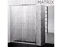 SPE14 - Matrix H1850mm x W1400mm Premium Economy Double Sliding Shower Door 6mm