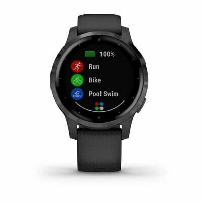 New Garmin Vivoactive 4S Smartwatch GPS 40mm Watch Black 010-02172-11 + More