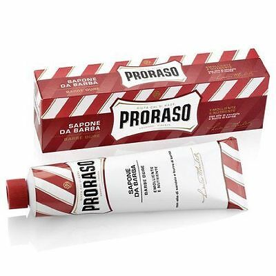 Proraso Shaving Cream 150ml Red Tube - Sandalwood and Shea Butter