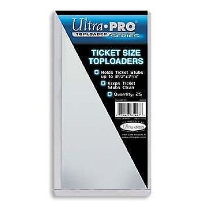 "10 Ultra Pro Ticket Size Toploaders 3.5"" x 7.25"" Top Load Holders Toploads"