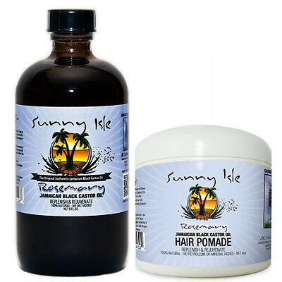 Rosemary Jamaican Black Castor Oil 8 Oz and Hair Pomade (Jamaican Black Castor Oil And Rosemary Oil)