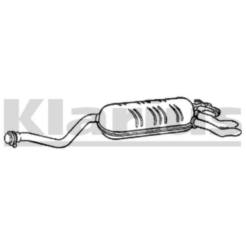 1x KLARIUS OE Quality Replacement Rear / End Silencer Exhaust For MERCEDES-BENZ