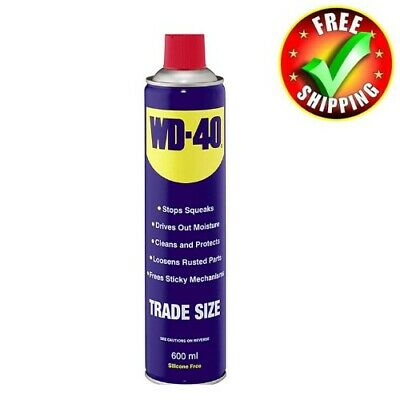 WD-40 Original Spray Can 600ml Trade Size Aerosol Lubricant Multi-Purpose Use
