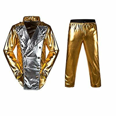 Pop star MJ Halloween Costume Gold suit with FREE glove, hat and arm - Mj Halloween Costumes