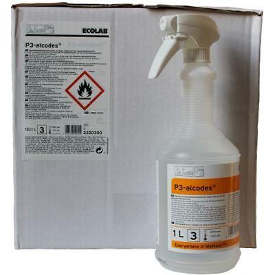 Ecolab P3 Alcodes 12x1 ltr. Flächendesinfektionsmittel für Lebensmittelbereich