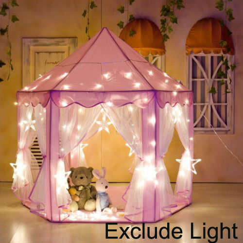 Купить Unbranded - Girls Pink Princess Castle Cute Playhouse Children Kids Play Tent Outdoor Toys