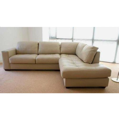 Leather Sofa Suites Uk: Cream Leather Corner Suite