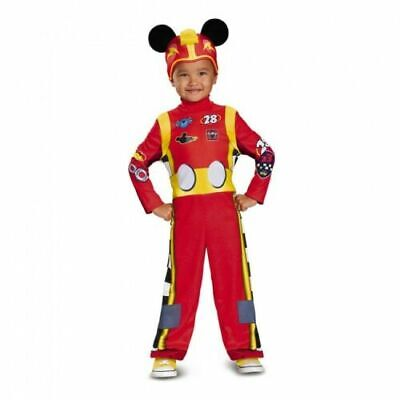 2t Mickey Mouse Costume (NEW Mickey Mouse & Roadster Racers Halloween Costume 2T OR 3T-4T Disney)