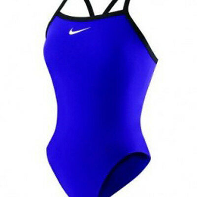 Nike Core Solids Lingerie Tank Blue Swimsuit Size 38 WMS12