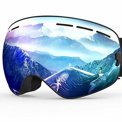 ZIONOR X Ski Snowboard Snow Goggles OTG Design for Men Women with Spherical Deta
