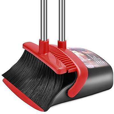 Broom and Dustpan Set Dust Pan and Broom Combo for Floor Cleaning Dustpan wit...