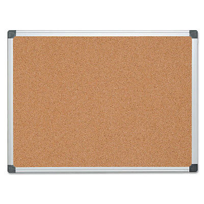 MasterVision Value Cork Bulletin Board with Aluminum Frame, 36 x 48, Natural