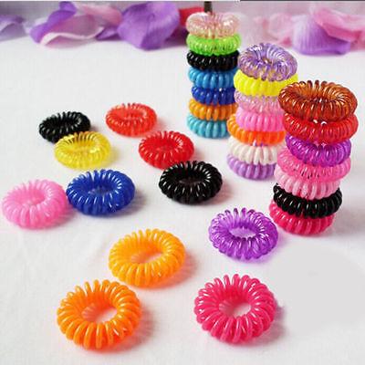 10Pcs Elastic Rubber Hairband Hair Ties Spiral Slinky Rope Hair Accessories - Slinky Hair Ties