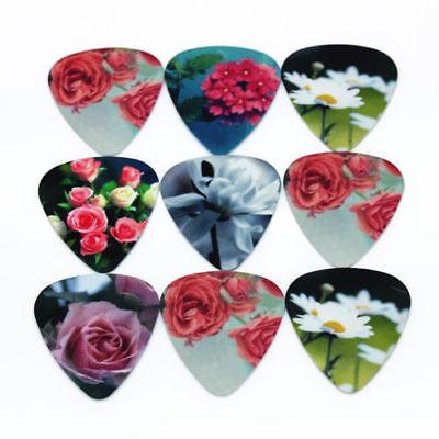 Flower Picks (Garden Flower Home Blooming Guitar Picks Lot of 10 .71 mm Free Track Medium New )