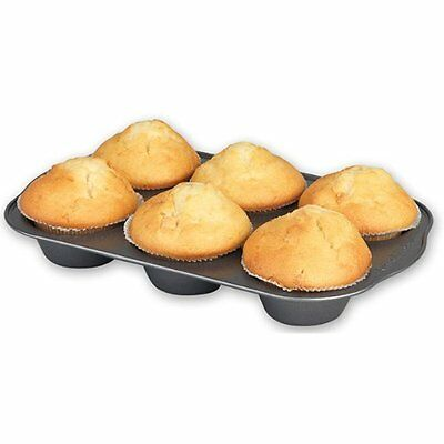 Russell Hobbs Lotus 6 Cup Muffin Pan Carbon Steel 2 Layer Non- Stick Coating Non-stick Steel Muffin Pan