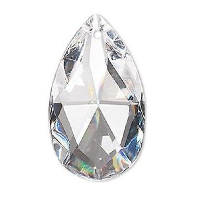 Asfour 30% Leaded Clear Crystal 37x21mm Faceted Teardrop Bead Drop Prism (Clear Faceted Crystal Bead)