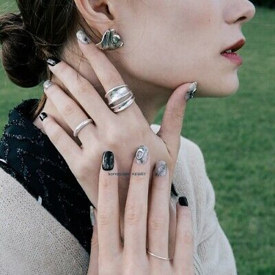 OHORA Self Gel nail art stickers nail patch 30pcs pack K-beauty marble nail arts