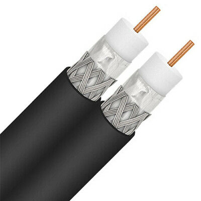 Eagle 1000 FT RG6 Coaxial Solid Copper Cable Messenger Ground Wire 3 GHz Coax