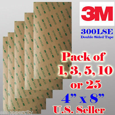 3M 300LSE Double Sided Sticky Adhesive Sheet Transfer Tape High Bond Digitizer x