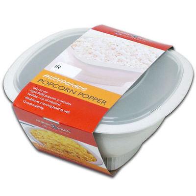 Nordic Ware Microwave Popcorn Popper 12 Cups   60120   White   Brand New Ebiz