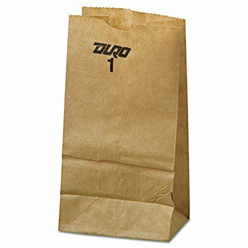 Duro ID# 18401 1# SOS Bag 30# Recycled Naturel Kraft, (Pack of 4000 Pieces)