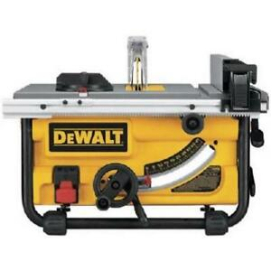 Lightly Used DEWALT DWE7480 10-Inch Compact Job Site Table Saw with Site-Pro Modular Guarding System Condition: Light...