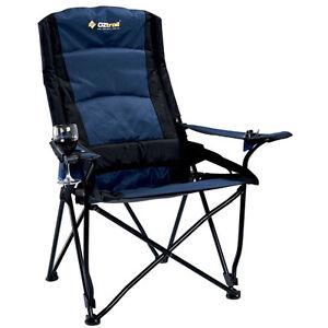 oztrail lindeman high back folding lumbar camping picnic